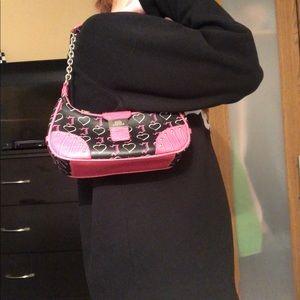 JLO by Jennifer Lopez Y2K shoulder purse in Black